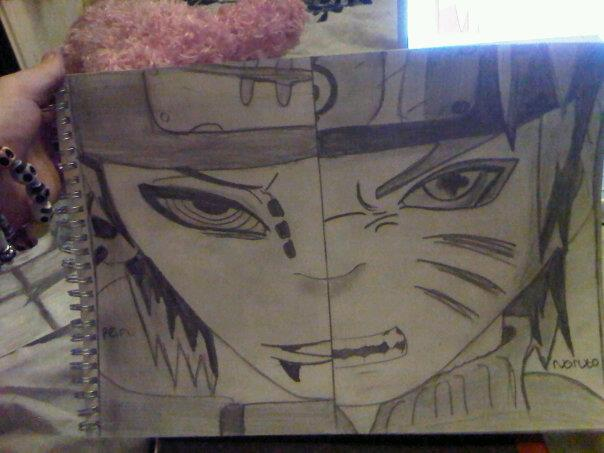 604x453 Naruto And Pein Drawing By Gorillazaremylifexx