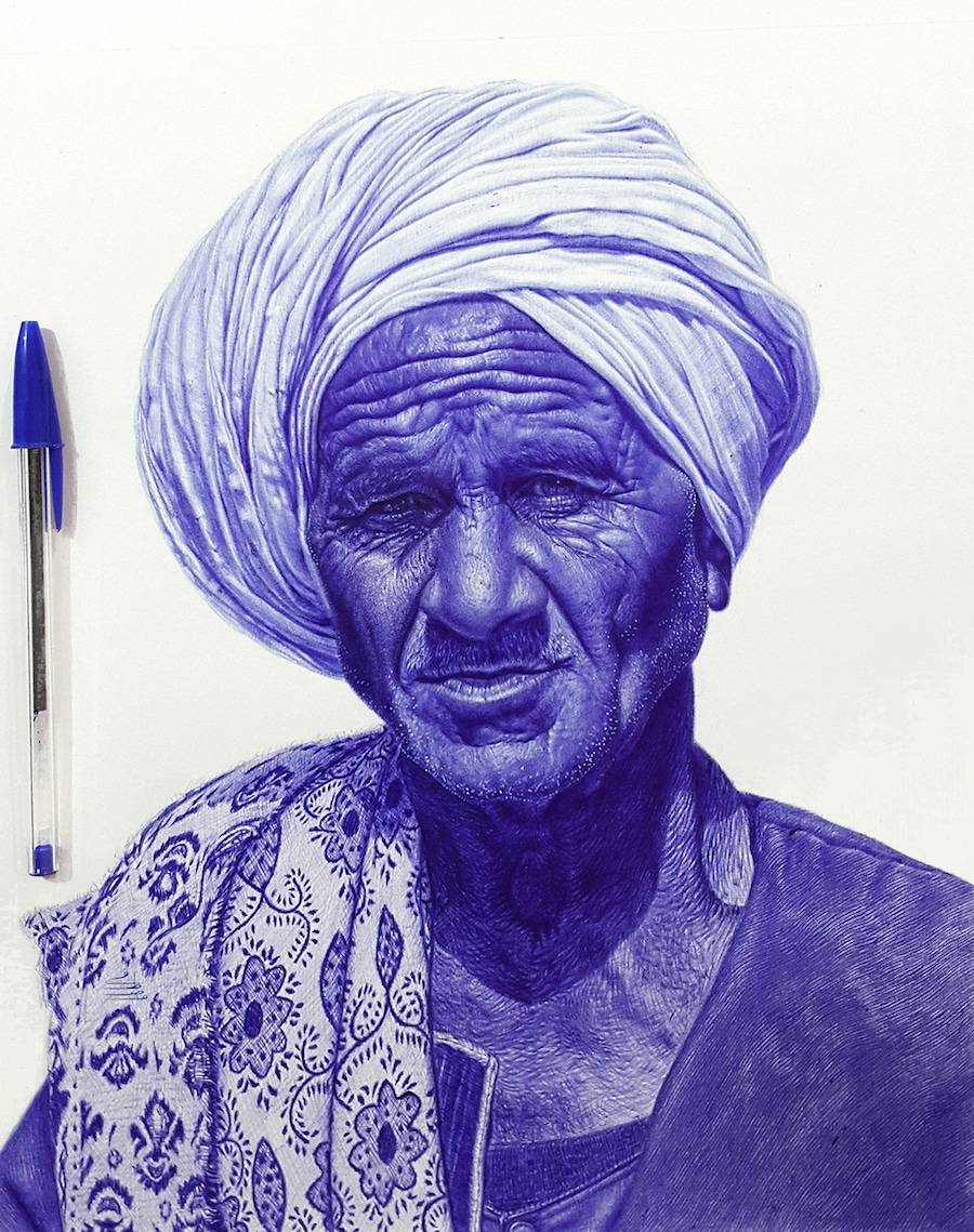 900x1139 Pieces Of Ballpoint Pen Art And Photorealistic Portraits