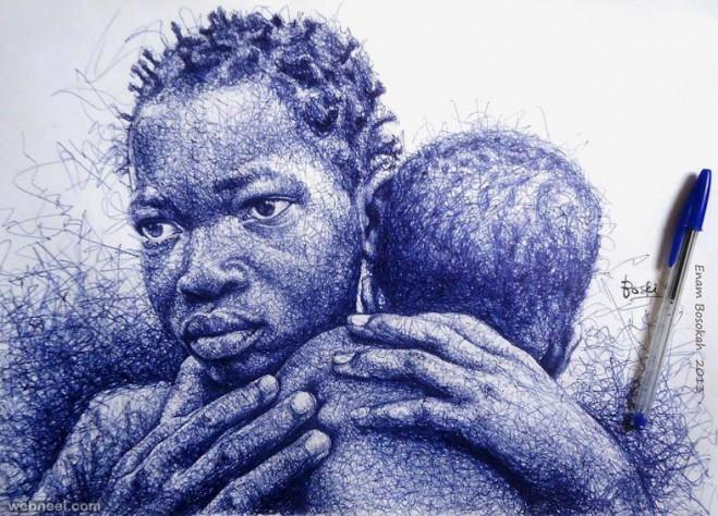 659x474 Pen Drawings By Enam Bosokah 9