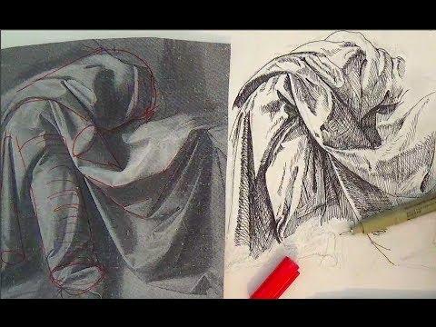 480x360 Pen And Ink Drawing Tutorials How To Draw Drapery Like Leonardo