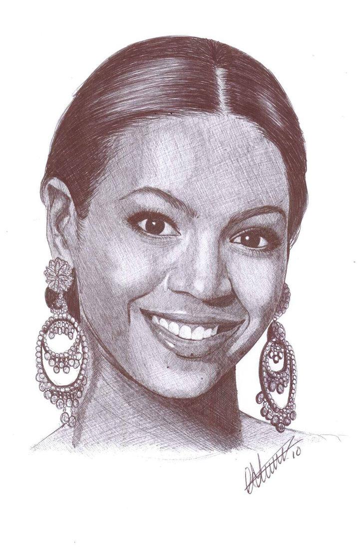 723x1106 Beyonce Knowles Pen Portrait By Craig Stannard