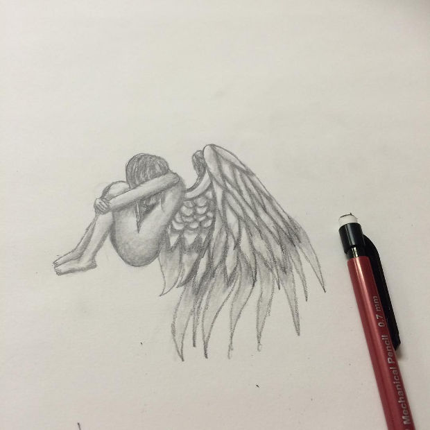 620x620 18 angel drawings art ideas design trends