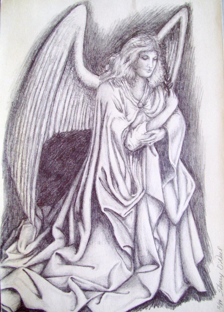 900x1253 Angel Drawing By Aikisugi