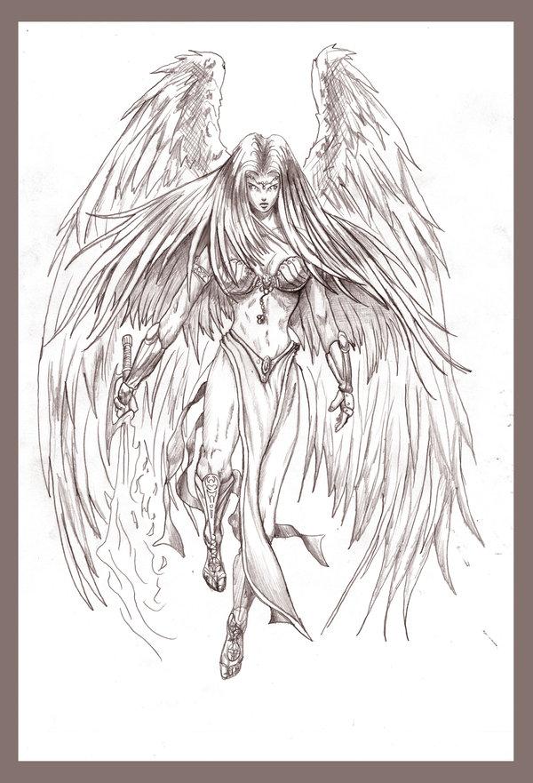 600x881 Pencil Drawings Pencil Drawings Of Angels