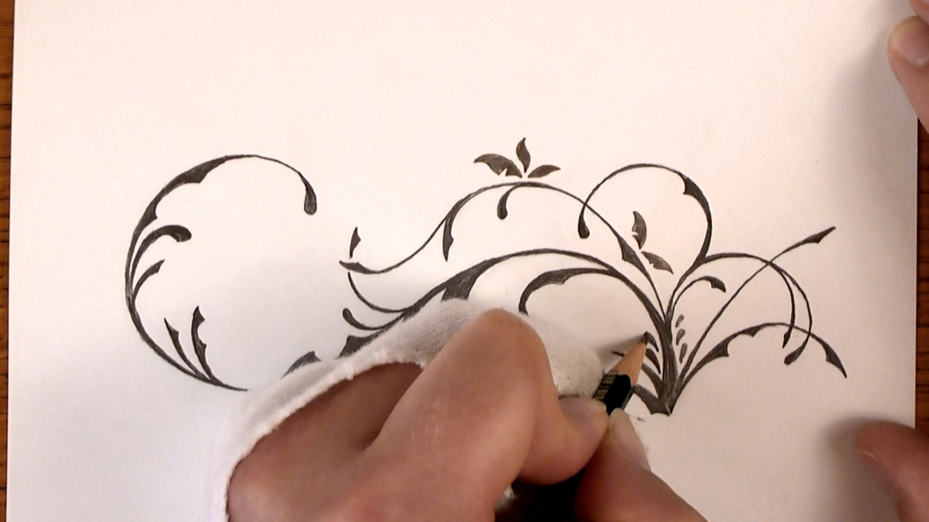 1024x576 Easy Drawing Flower Designs Drawing Time Lapse A Simple Floral