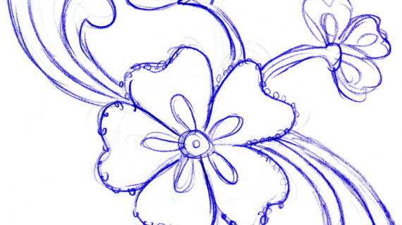 570x320 Simple Flower Designs For Pencil Drawing Pencil Sketch Of Flower