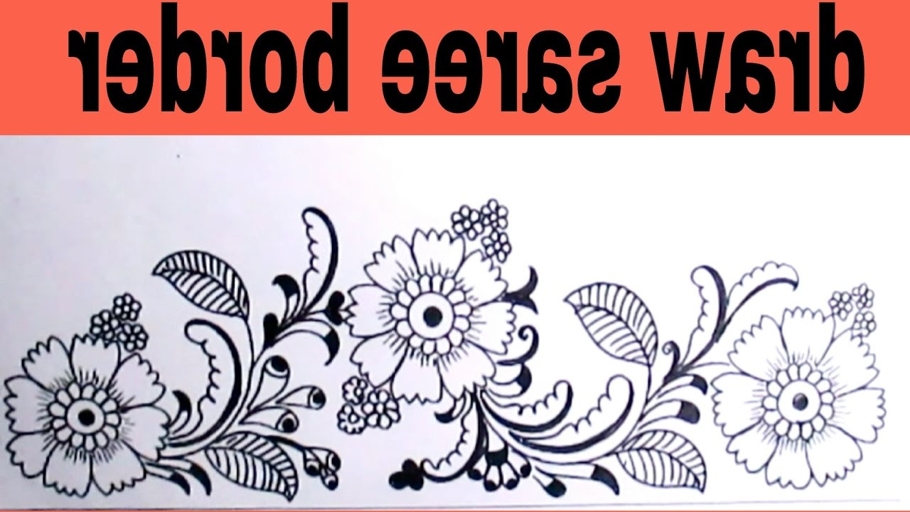 1280x720 Simple Pencil Drawing Designs For Border Border Design Using