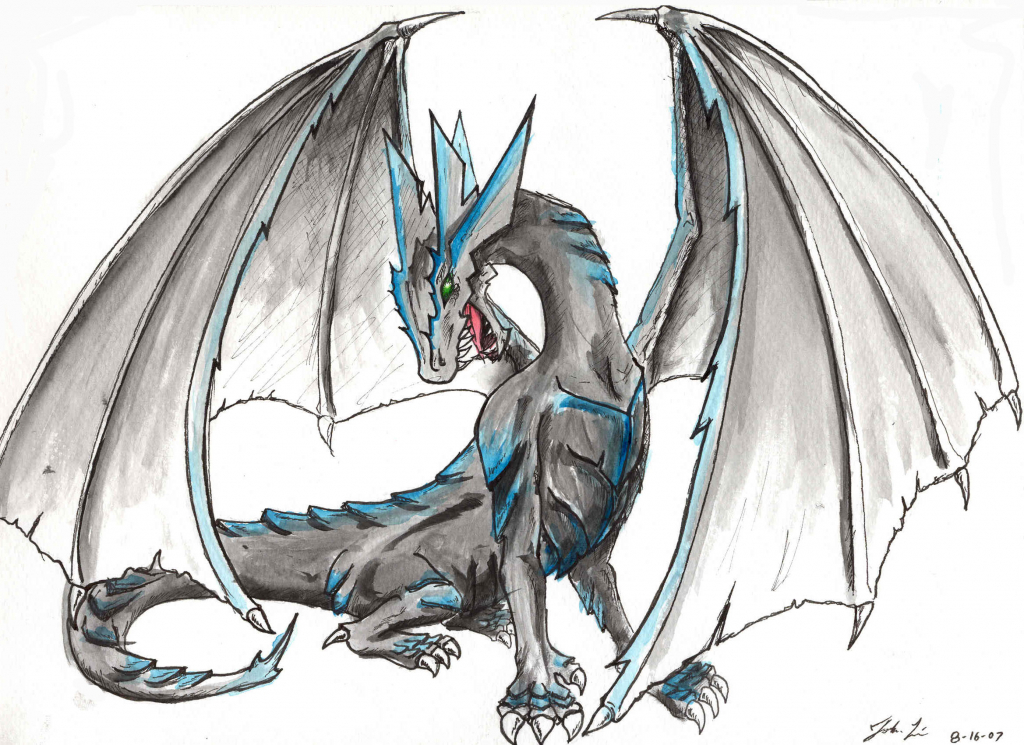 1024x745 How Draw A Dragon How To Draw A Dragon Step Step Step Step Dragons