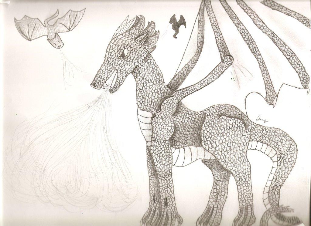 1024x745 Pencil Dragon Drawing By Soren1442
