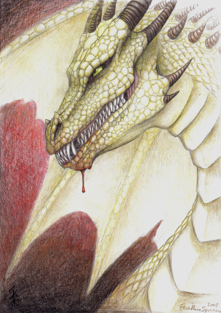 750x1065 Pencil Drawing Of A Dragon By Nocturnalmoth