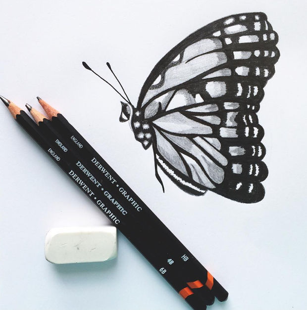 620x627 20 butterfly drawings art ideas design trends