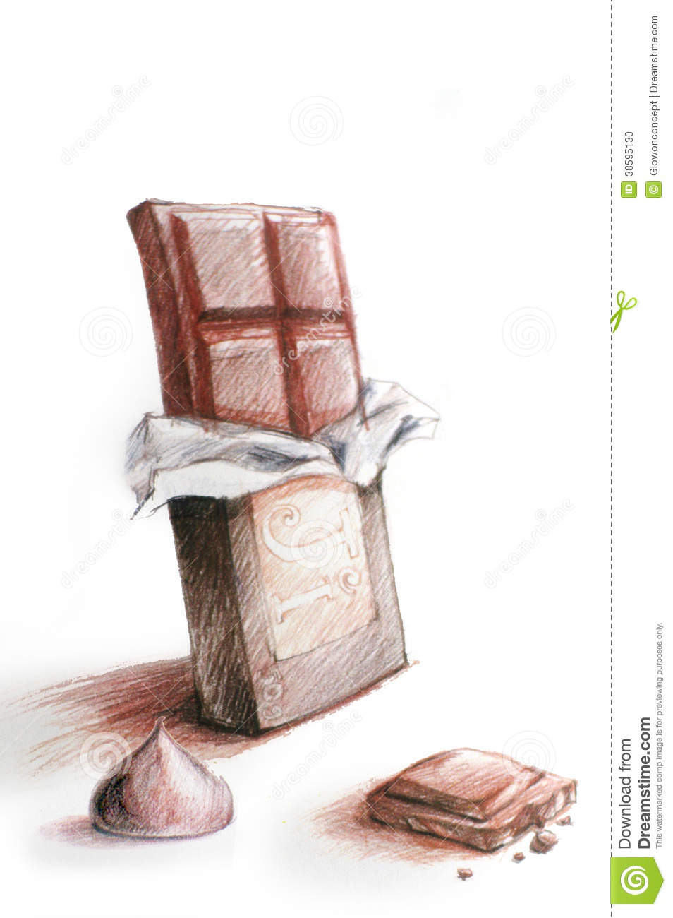 954x1300 Pencil Sketch Easy Chocolate Picture Chocolate Clipart Pencil