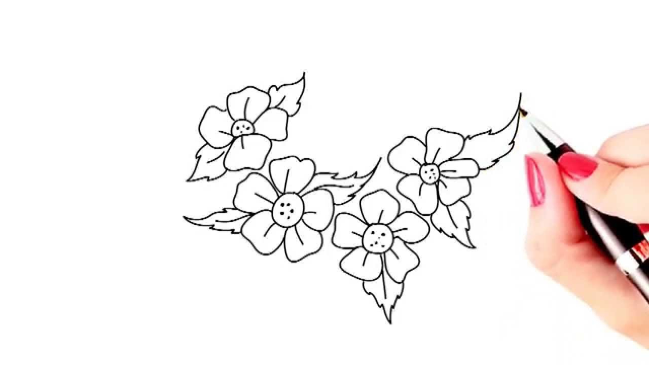 1280x720 Easy Pencil Drawings Of Flowers Step By Step How To Draw Beautiful