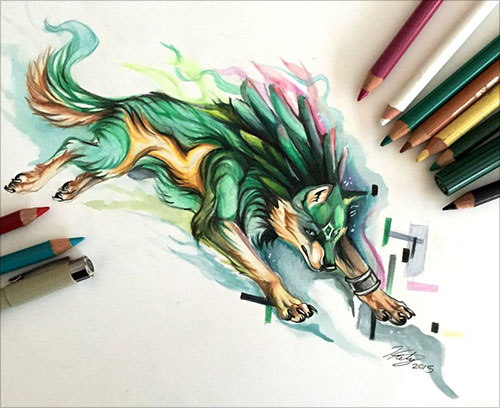 500x408 50 inspiring color pencil drawings of animals by katy lipscomb