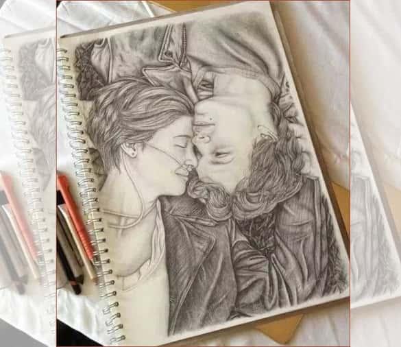 585x506 Love Drawings Templates