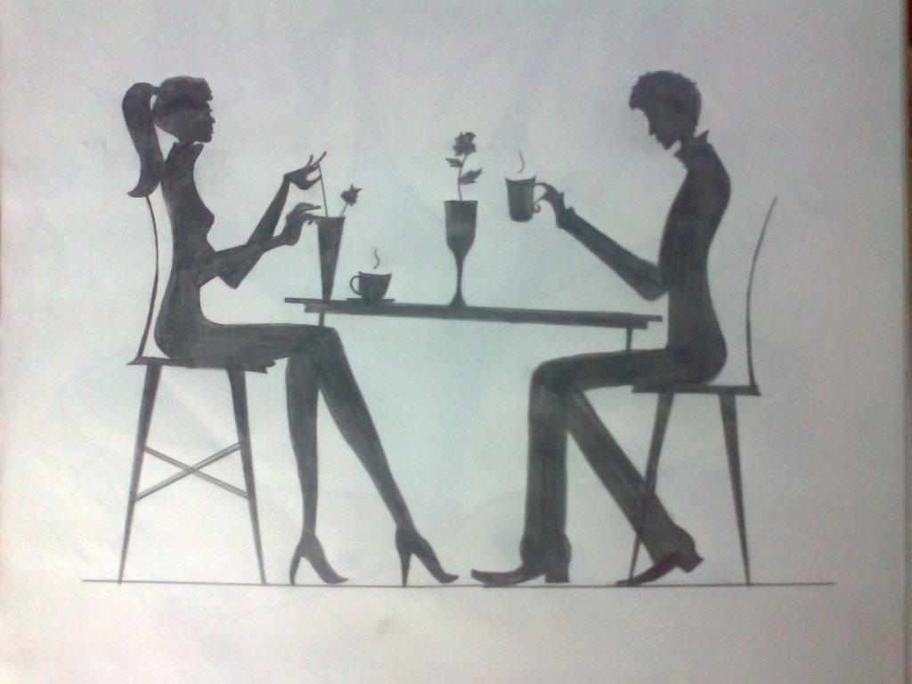 1024x768 tanu shree artwork romance original drawing pencil love art
