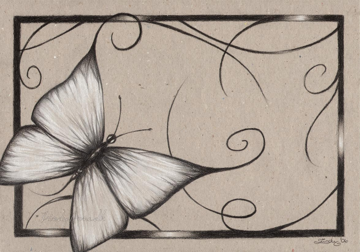 1175x824 butterflies drawings Zindy Zone.dk