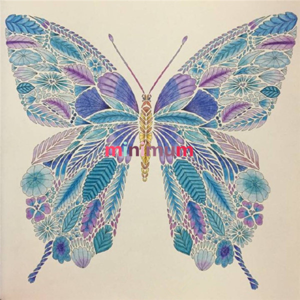 600x600 Diy Pencil Drawing Butterfly Diamond Painting Mosaic Cross Stich