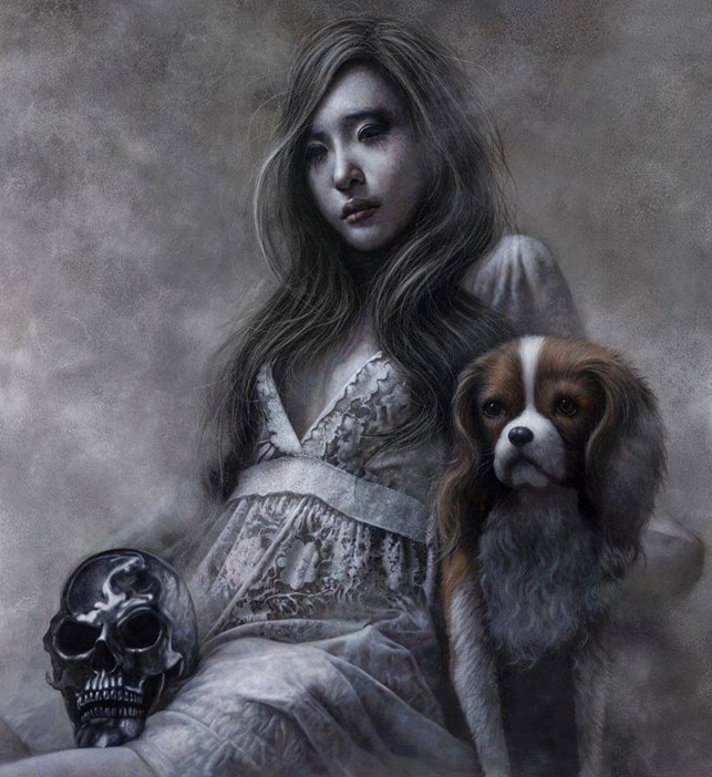 643x702 Girl And Dog Pencil Drawing Image Preview Image