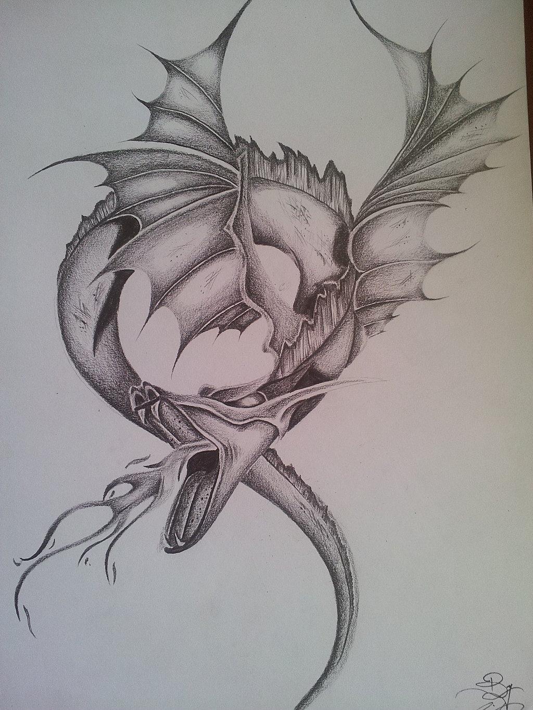 1024x1365 Fantasy Dragon Pencil DRAWING