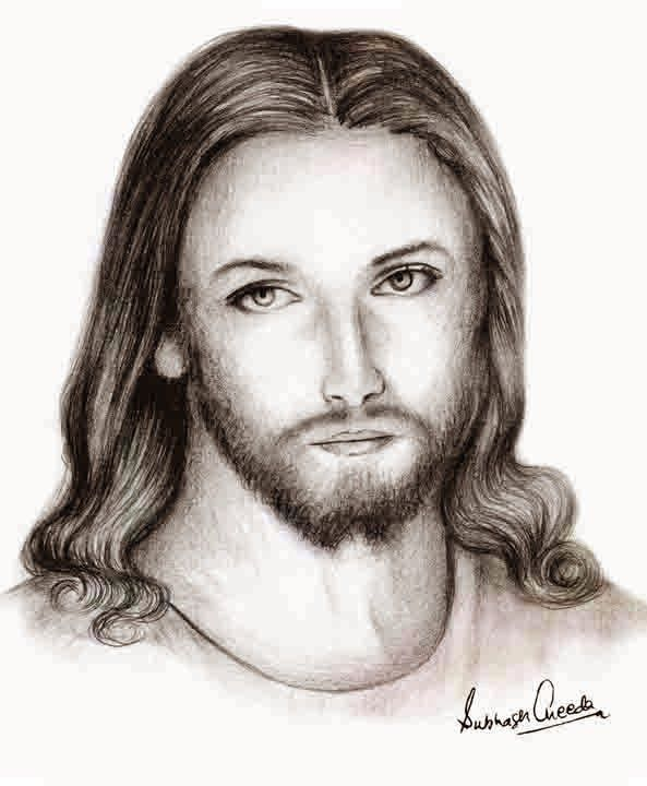 593x720 Jesus Christ Jesus Christ Sketch Pencil Art