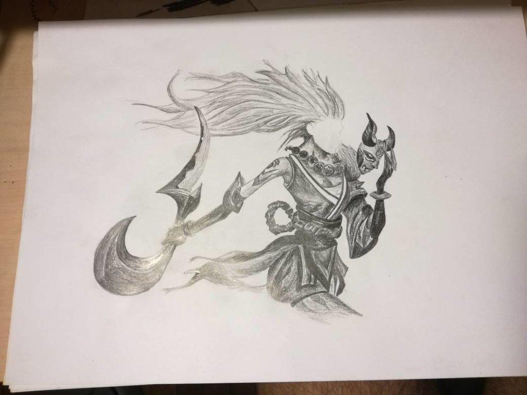 1024x768 Blood Moon Diana Pencil Drawing By Enderbornftw