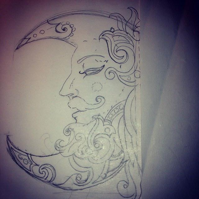 640x640 Moon Sketch Number Three So Far