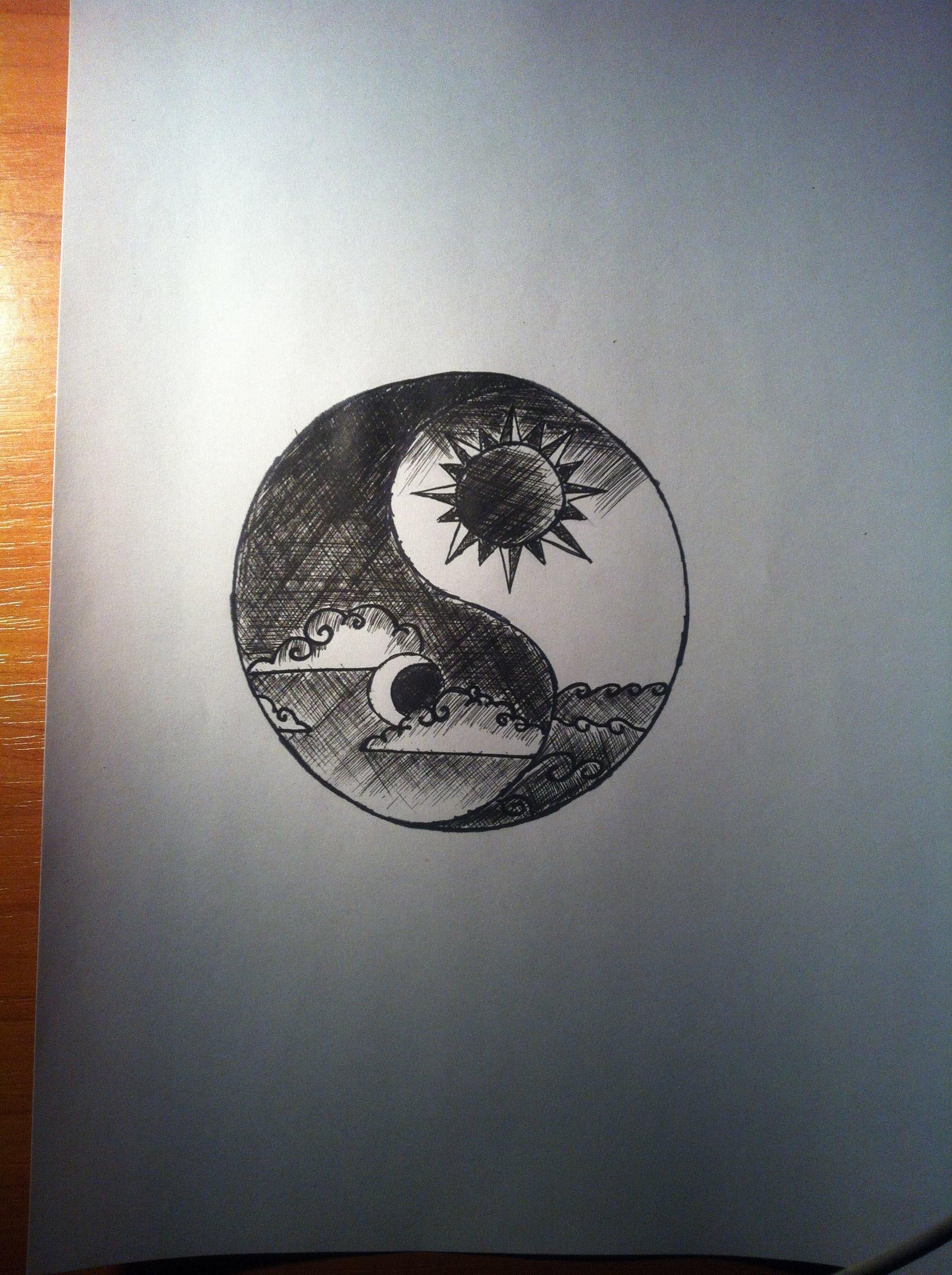 1936x2592 Yin Yang Sun And Moon Time Lapse Drawing