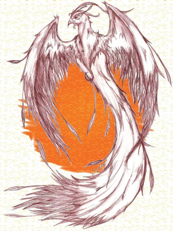 585x781 Mind Blowing Phoenix Bird Art Drawings Free Amp Premium Templates