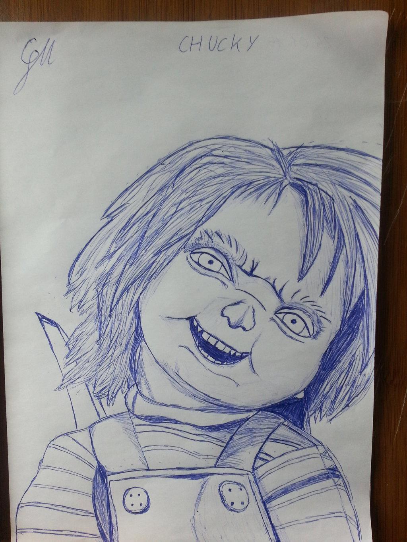 1024x1365 Childs Play Chucky Pencil Drawing By Sun Tzu88