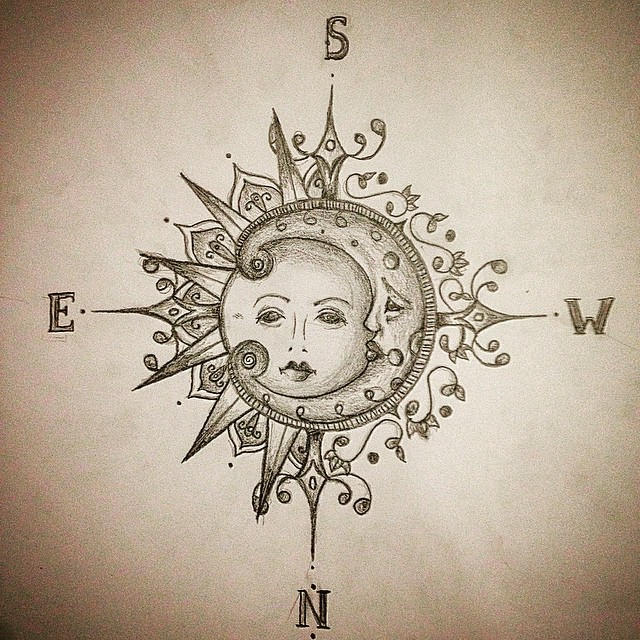640x640 Pencil Drawing Of The Sun