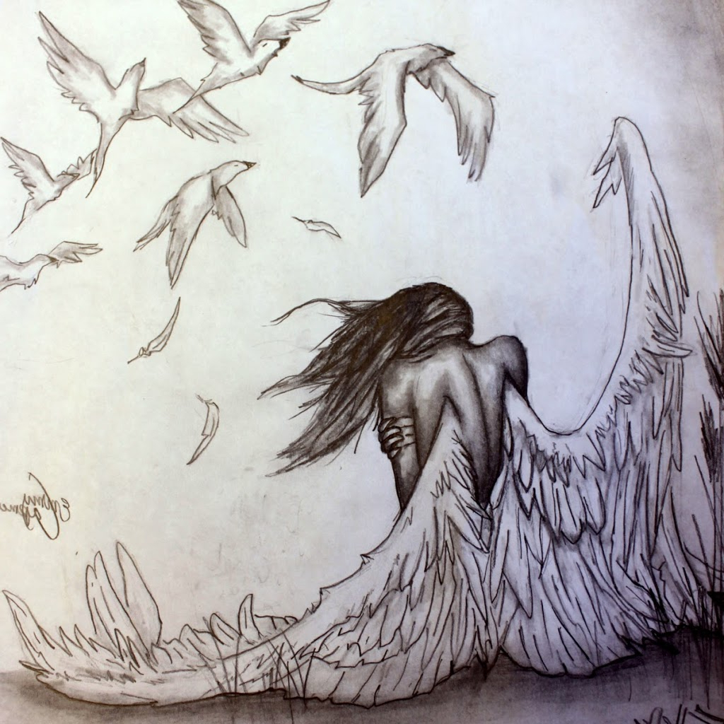 1024x1024 Pencil Drawings Angels Angels Drawings Pencil Free Download Fallen