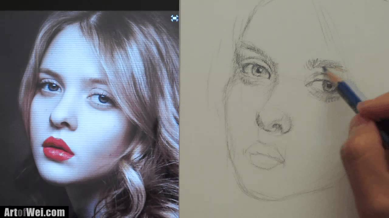 1280x720 How To Draw A Pretty Face With Pencil