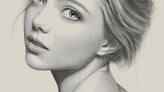 570x320 pencil drawing girl face pencil sketch of girl face