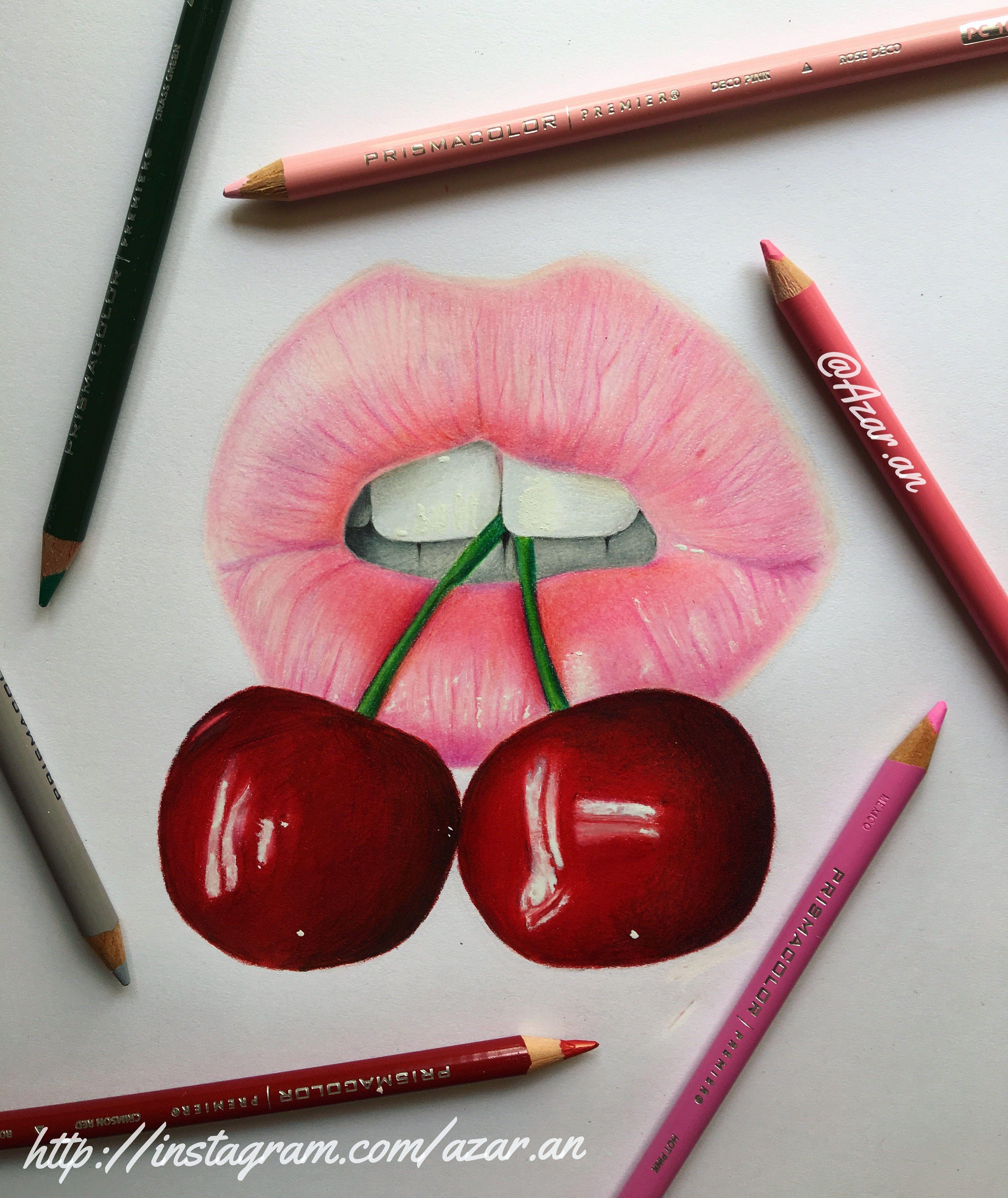 3024x3595 Colored Pencil Lip Drawing Azar.an Arts Coloured