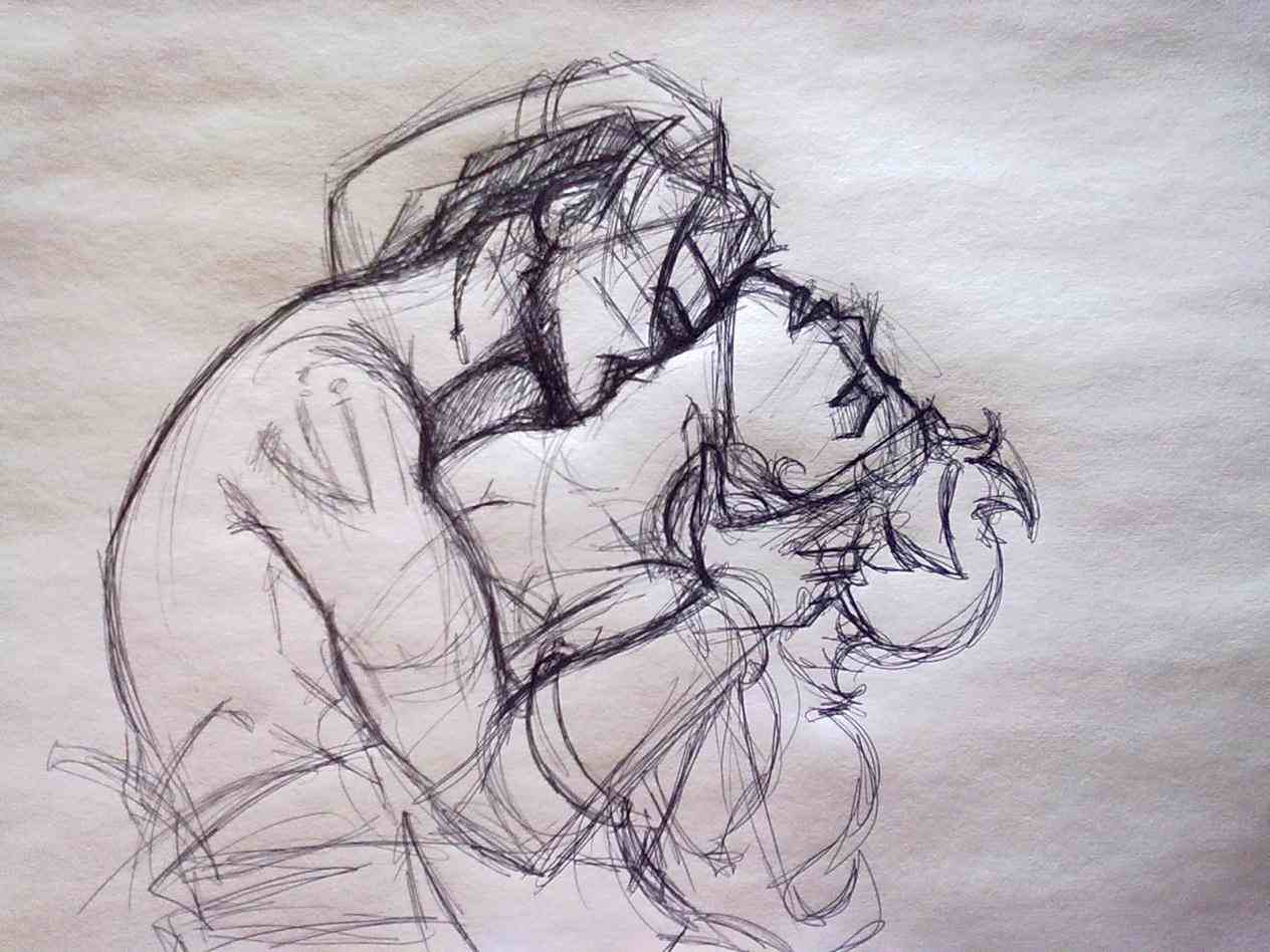 1264x948 colorful pencil sketch love photos hd sketch pictures of lovers