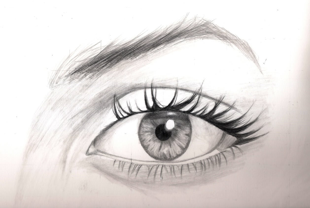 1258x842 Realistic Drawing Tutorial 88] How To Draw The Eyes
