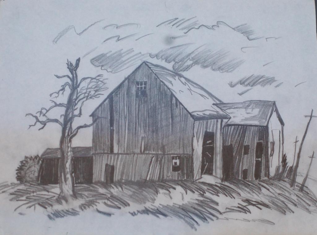 1024x761 Pencil Scenery Sketches Pencil Drawing Sceneries Pencil Sketch