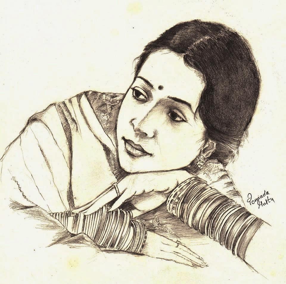 960x954 Indian Pencil Sketch