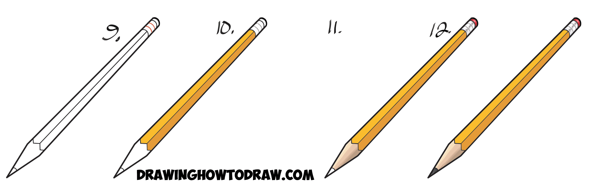 2000x615 How To Draw Realistic Pencils Using One Point Perspective