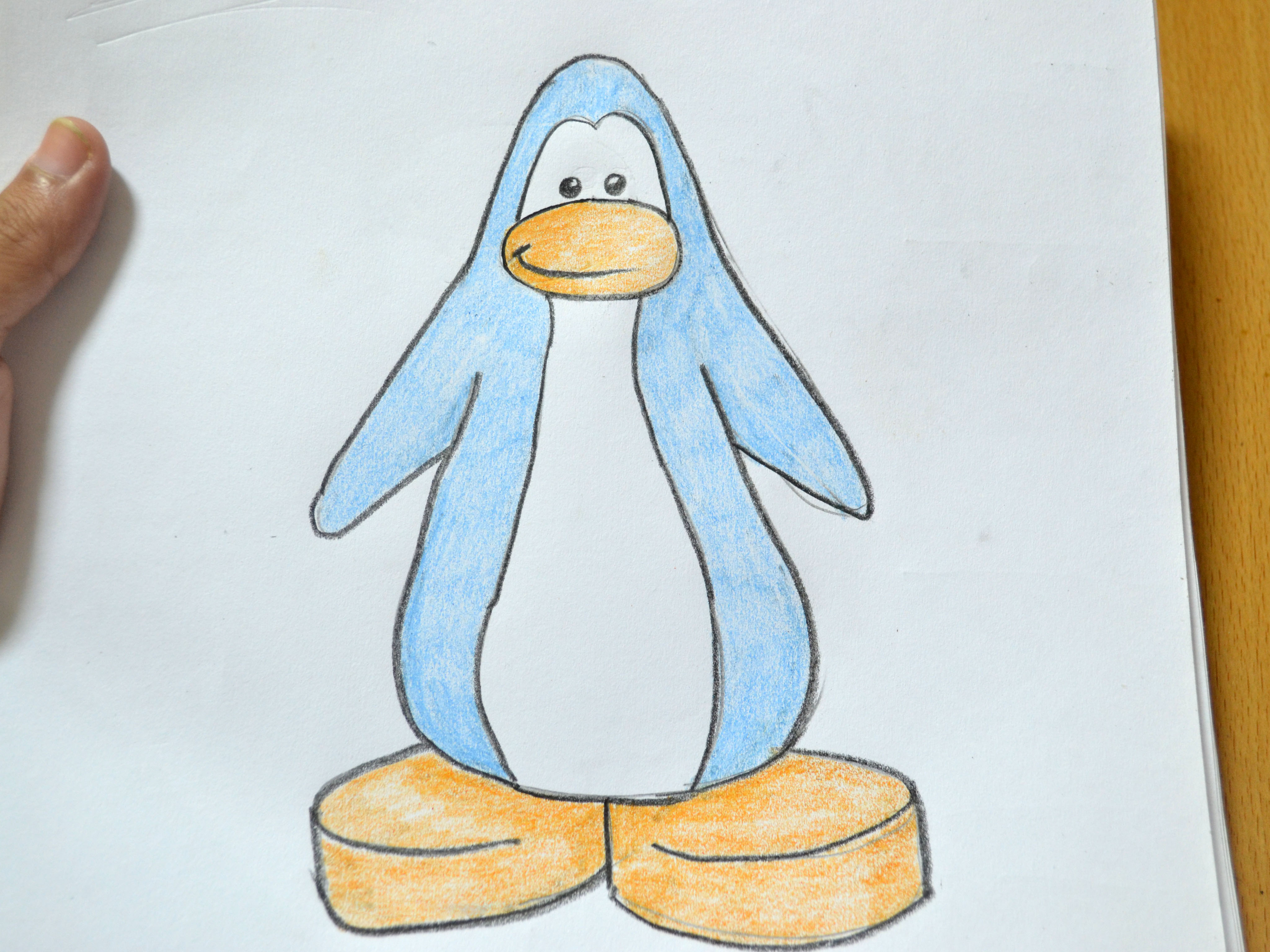 4096x3072 How To Draw A Club Penguin Penguin 8 Steps (With Pictures)