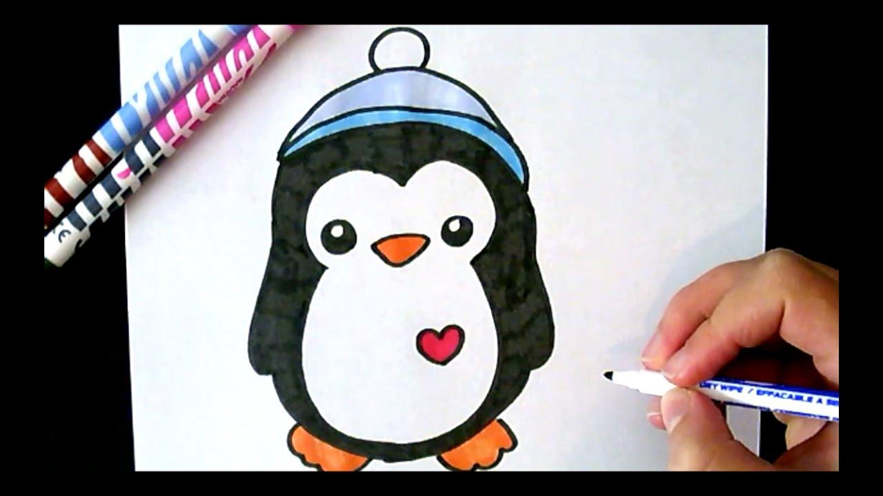 1280x720 Cute Penguin Drawings Drawn Penguin Adorable Penguin