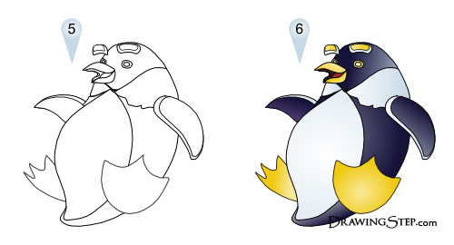 500x270 To Draw Cartoon Penguins
