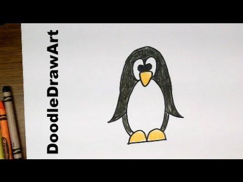 480x360 Drawing How To Draw Cartoon Penguin