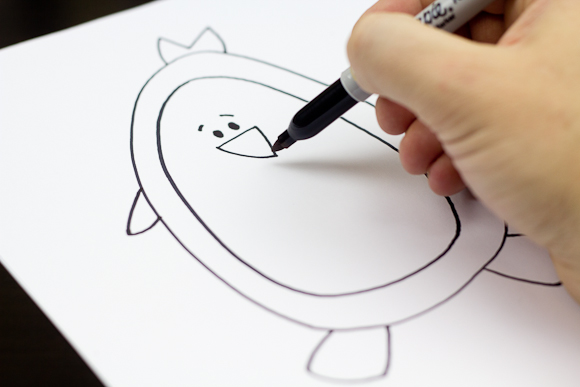 580x387 How To Draw A Penguin