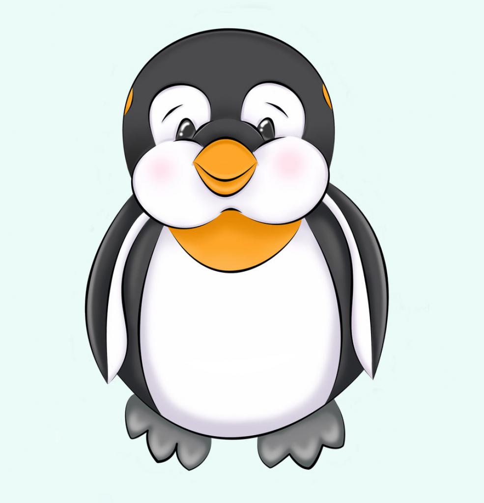 985x1024 Cute Penguin Drawing Cute Penguins Drawing Images
