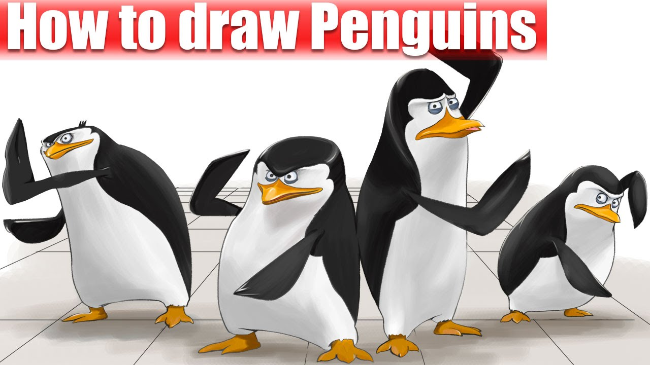 1280x720 How To Draw Penguins Of Madagascar