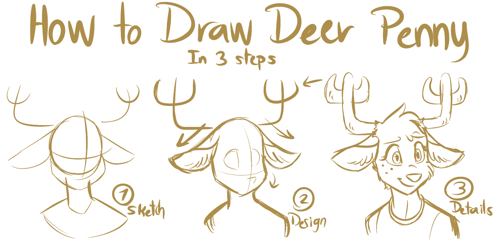 1674x844 Tawog How Draw To Deer Penny By Namygaga