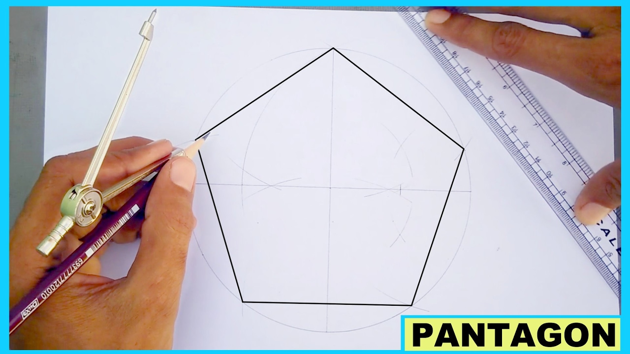 1280x720 Learn To Draw Pentagon Without Using Protractor