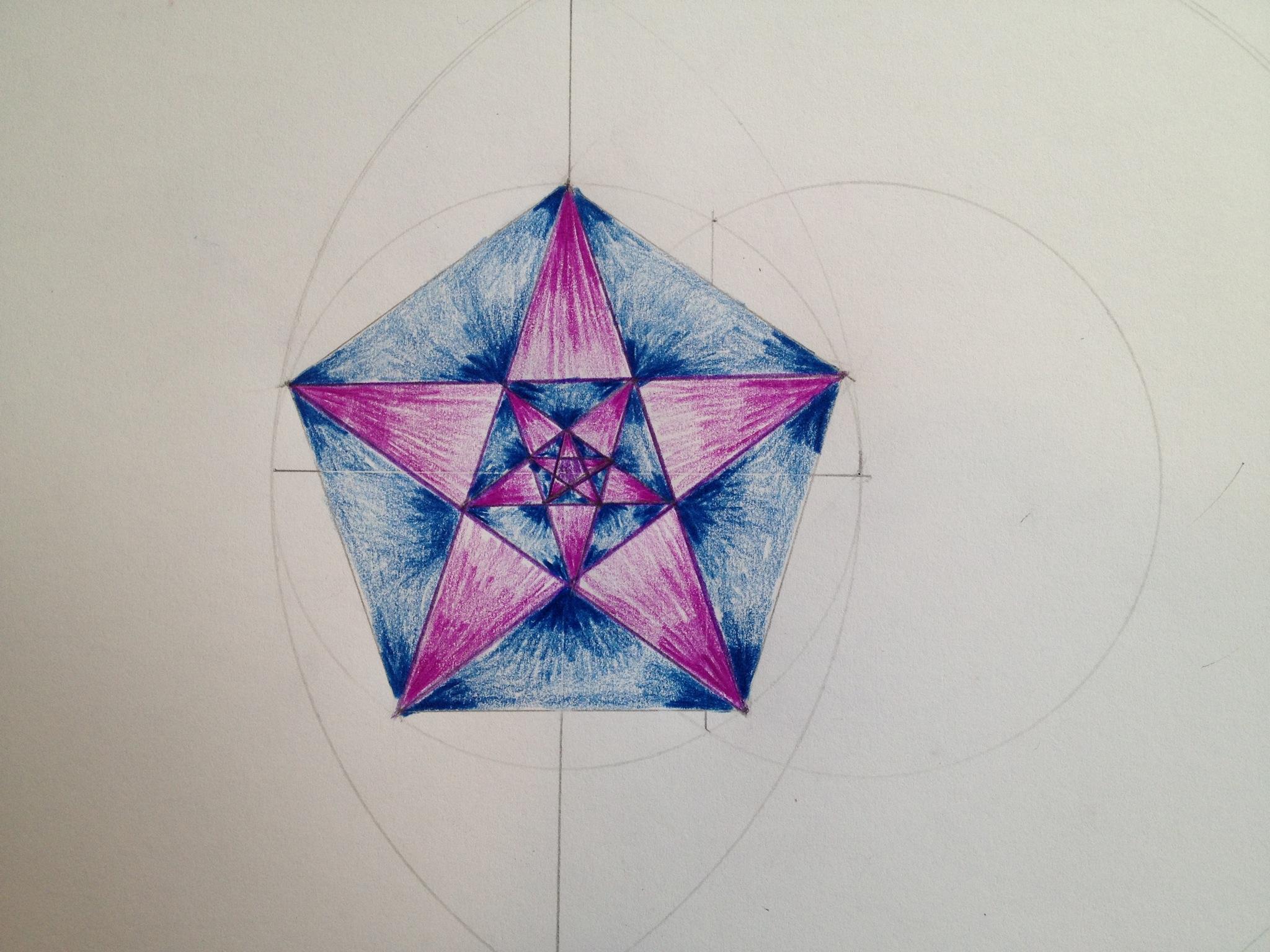 2048x1536 Pentagon And Pentagram Star Are Born From A Vesica Piscis. Grade 6